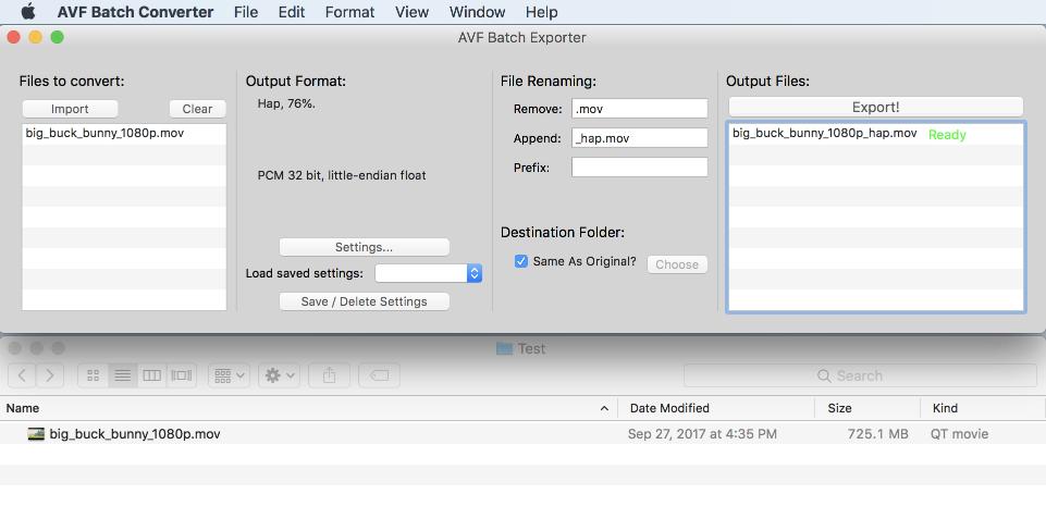AVF Batch Exporter | VIDVOX Documentation