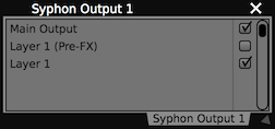 Syphon Output
